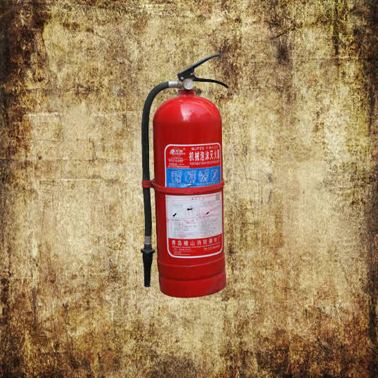 Portable foam fire extinguisher