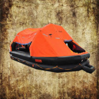 self-righting inflatable liferaft