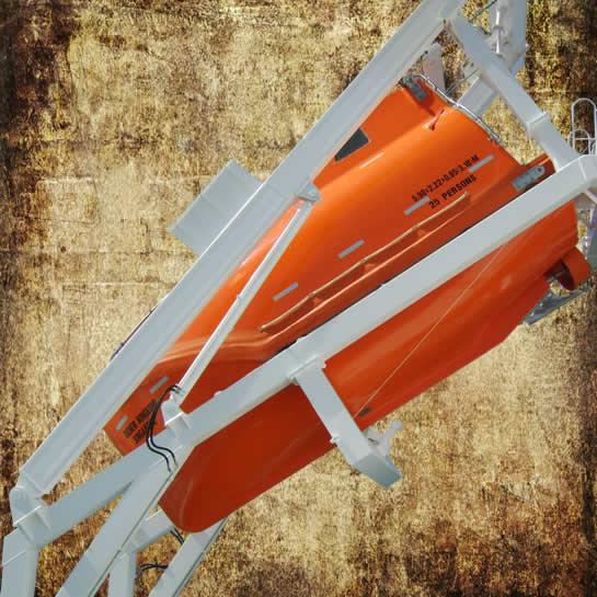 Free fall lifeboat launching appliance