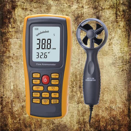 Digital Anemometer Remote Vane