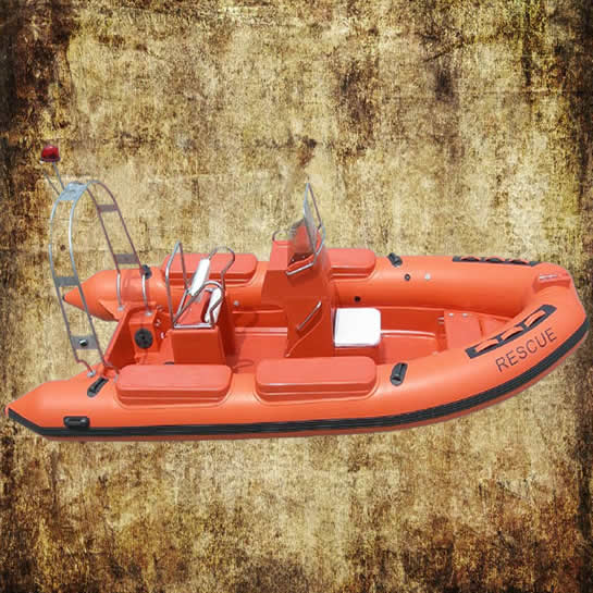 Rigid Inflatable Boat with bridge and seat