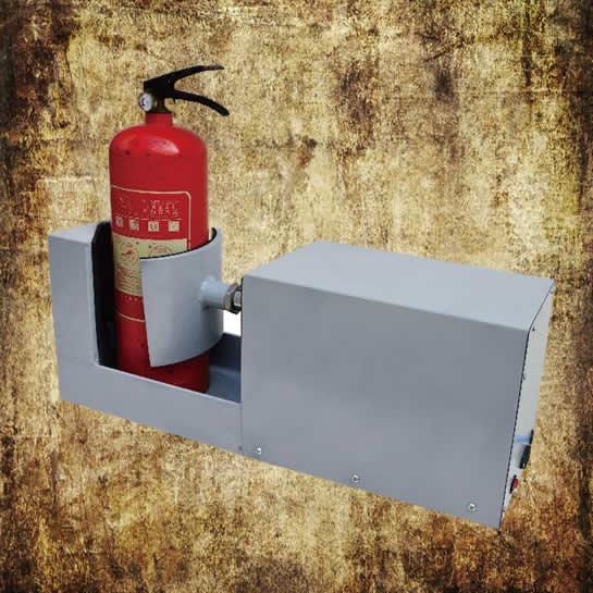 Extinguisher disassembly station pneumatic type