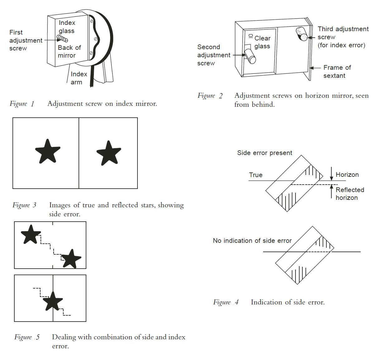 how to adjust marine sextant errors